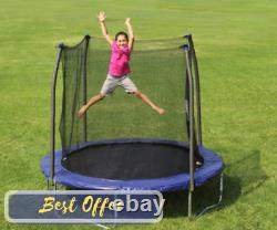 Free Shipping Blue Trampolines 8' Safety Enclosure Trampoline