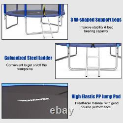 Giantex 10FT Trampoline Combo Bounce Jump Safety Enclosure Net WithBasketball Hoop