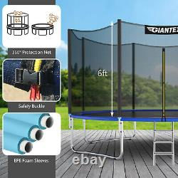 Giantex 12 FT Trampoline Combo Bounce Jump Safety Enclosure Net With Spring Pad
