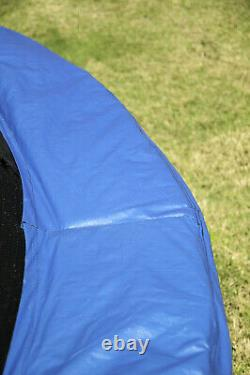 JumpKing 10' Trampoline and Safety Net Enclosure Combo Blue Missing Springs