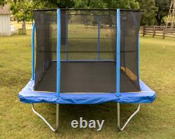 Jumpking Rectangle 10 x 14' Trampoline, with Enclosure, Blue/Yellow