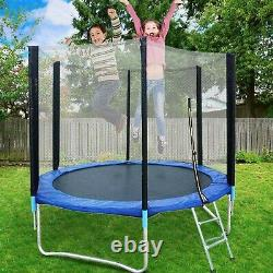 Kids 8FT Trampoline Play Exercise Jumping Bed Round WithSafety Enclosure Net Pad