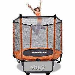 LBLA 48 Kids Trampoline, Foldable trampoline with Safety Enclosure Netting
