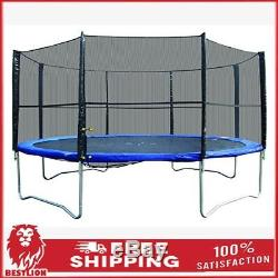 Large Outdoor Super Jumper 14' Round Trampoline with Safety Enclosure For Kids