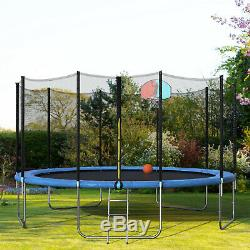 Merax 15 Foot Round Trampoline with Safety Enclosure, Basketball Hoop and Ladder