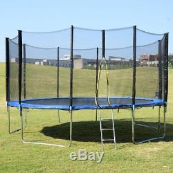 NEW Skywalker Trampolines 15' Round Trampoline with Safety Enclosure Blue pad