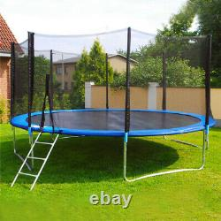 New 12FT Trampoline Combo Bounce Jump Safety Enclosure Net withSpring Pad Ladder