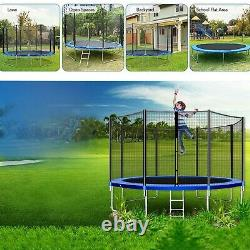 NewTrampoline 12ft With Safety Enclosure Net, Spring Pad and Ladder, 440LB US