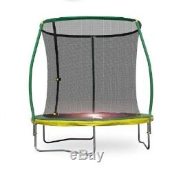 No Tax! 8-Ft Steelflex Trampoline with Pro Safety Enclosure and Mini Flashlight
