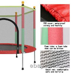 Outdoor/Indoor Jumping 60 Youth Kids Trampoline Exercise Safety Pad Enclosure