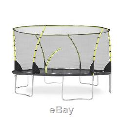 Plum Play Whirlwind 14-Foot Trampoline, with Safety Enclosure, Black/Green