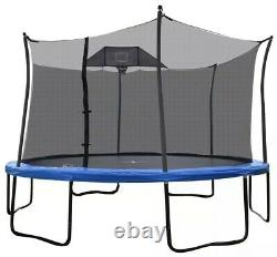 Propel Round 14' Trampoline with Basketball Goal & Safety Enclosure