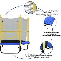 Round Trampoline 5FT Kids Bounce Jumper with Enclosure, Net With Spring Pad