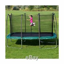 Skywalker Jumping Trampoline Rectangle Enclosure Net Gymnast 8 x 14 Green New