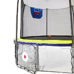Skywalker Trampoline 12' Round Sports Arena with Enclosure Dual Color