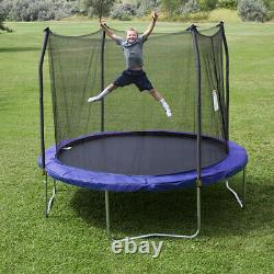 Skywalker Trampolines 10 Foot Round Trampoline with Safety Enclosure, Blue (Used)