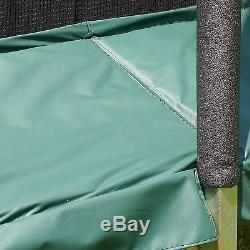 Skywalker Trampolines Rectangle Trampoline and Enclosure with Green Spring Pa