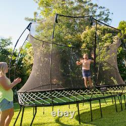 Springfree Trampoline Kids Outdoor Large Oval 8 x 13 Ft Trampoline with Enclosure
