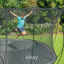 Springfree Trampoline Kids Outdoor Large Square 11 Foot Trampoline with Enclosure