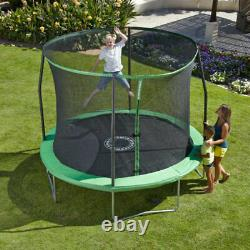 (TOP QUALITY) LARGE Sportspower 8FT Quad Lok Trampoline With Safety Enclosure