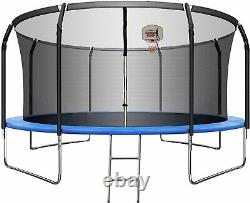 TRIPLE TREE 10 FT 14 FT Trampoline for Kids and Adults with Safety Enclosure Net