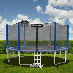 Topbuy 10/12/14/15/16FT Trampoline Combo Bounce Jump Safety Enclosure Net