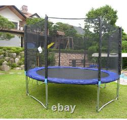 Trampoline 12FT Combo Bounce Jump Safety Enclosure Net withSpring Pad Ladder Jumpe