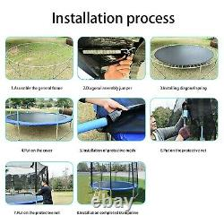 Trampoline 12ft with Safety Enclosure Net, Spring Pad and Ladder, 440LB Capacity