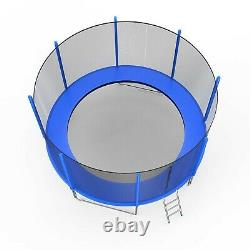 Trampoline 12ft with Safety Enclosure Net, Spring Pad and Ladder Set, 440lbs