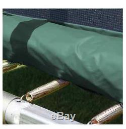 Trampoline For Kids Large With Enclosure 14 Ft Rectangle Safety Net Green Pad