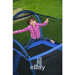 Trampoline For Kids With Enclosure Indoor Outdoor Exercise Steel Arch Frame 7 Ft