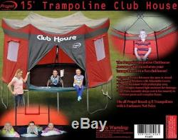 Trampoline Tent Clubhouse Cover Only 15 Ft Enclosure Playhouse Tarp Waterproof A