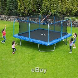 Trampoline With Enclosure 15 For Kids Safety Net Handle Active Square Sky Jump