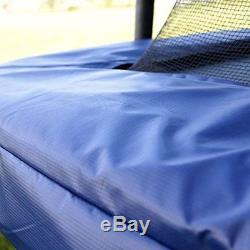 Trampoline with Enclosure Skywalker 15' Rectangle Blue Outdoor Jump Bounce Kids