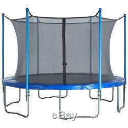 Upper Bounce Trampoline Enclosure Set 13 ft, Black, 6 Poles with Sleeves