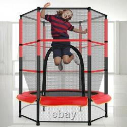 Youth Jumping Round Trampoline 55 Exercise With Safety Pad Enclosure Combo Kids