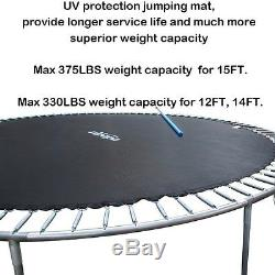 Zupapa 12 Ft TUV Approved Trampoline with Enclosure net and pole & Safety Pad